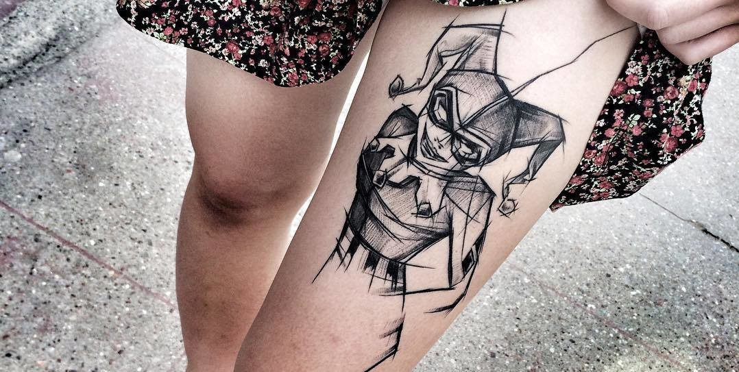 Amazing Blackwork Sketch Tattoos by Inez Janiak