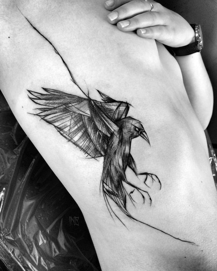 Amazing Blackwork Sketch Tattoos by Inez Janiak-01