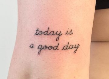 20 Minimalist Typography Tattoos by Paris Tattoo Club