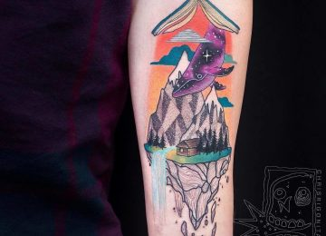Colorful Surreal Tattoos by Chris Rigoni