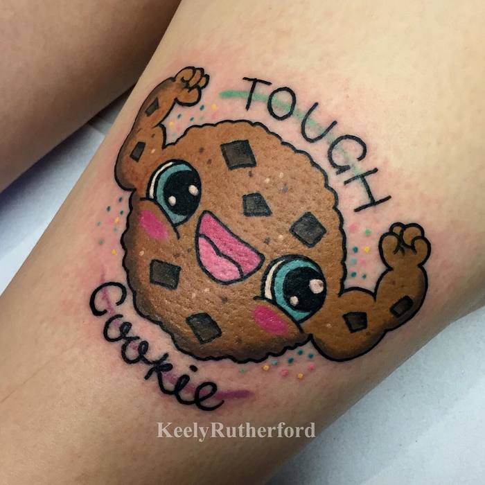 Cute and Colorful Feminine Tattoos By Keely Rutherford