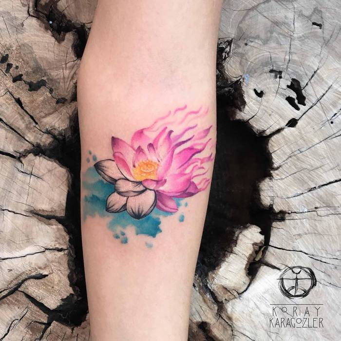 Vibrant Watercolor Tattoos by Koray Karagozler