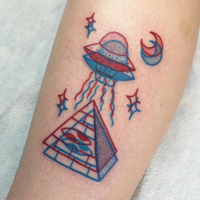 UFO Tattoo Design by winstonthewhale
