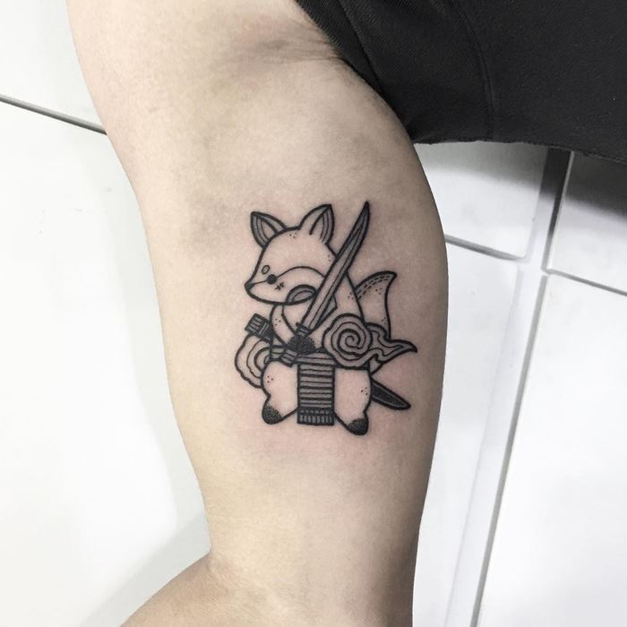 20 Cute Black Ink Tattoos by Tattooer Hugo