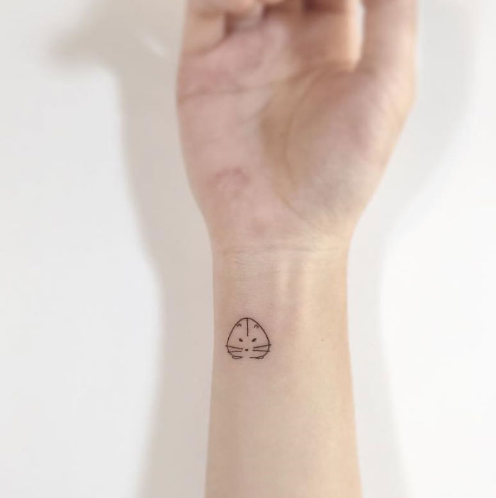 Cute And Minimalist Hamster Tattoo By Playground Tattoo