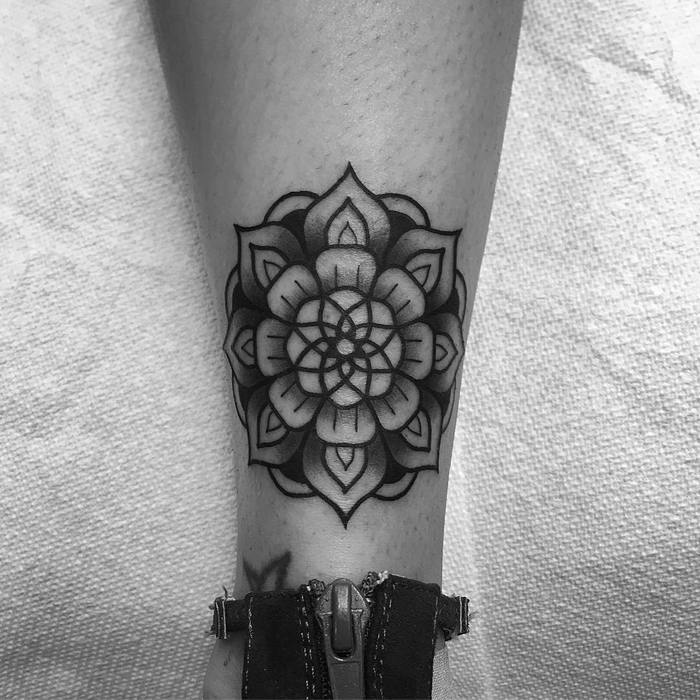 Mandala tattoo by Ignacio Ayala