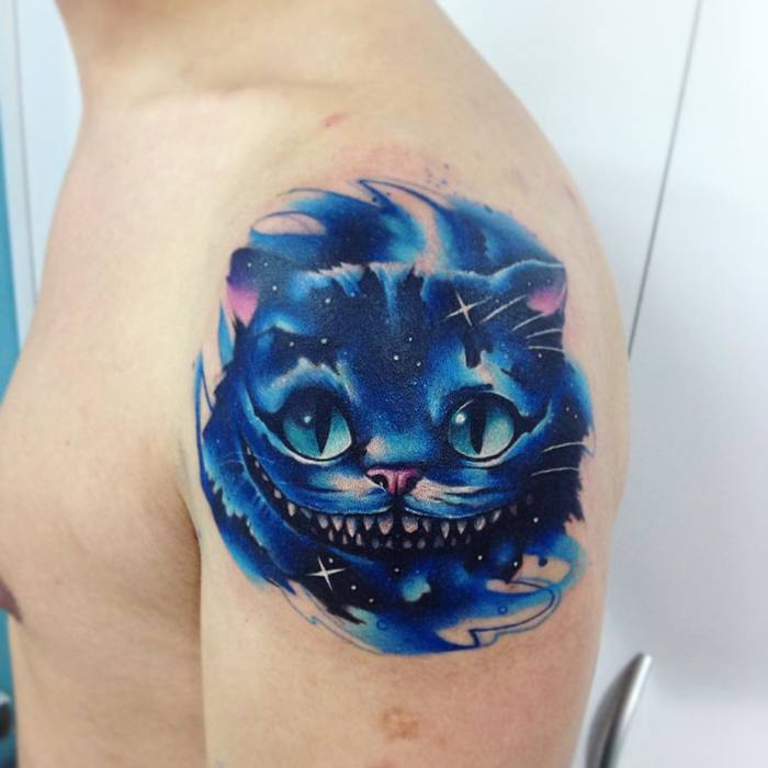 Cheshire Cat Tattoo By Adrian Bascur