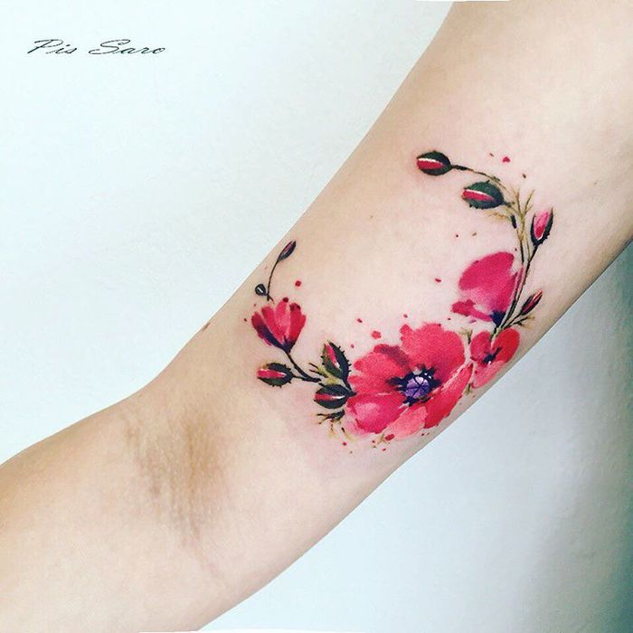 Delicate Botanical Tattoos by Pis Saro