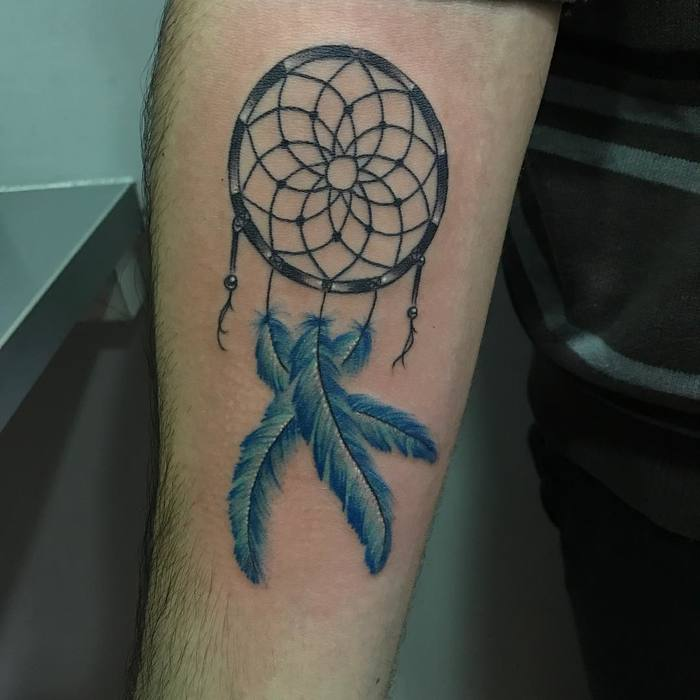 Simple Dreamcatcher Tattoo by Madrid Art Tattoo