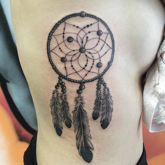 Simple Dreamcatcher Tattoo by Ben Saunders
