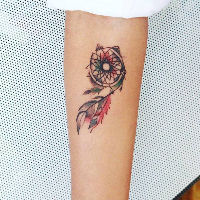 Small Dreamcatcher Tattoo by Fenil Bhatporiya