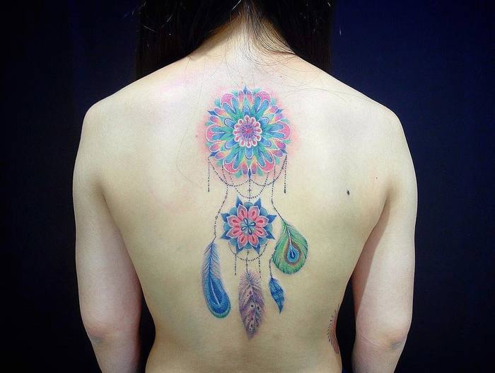 Colorful Dreamcatcher Tattoo by Edna tattoo