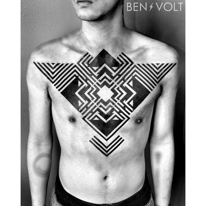 Dynamic Blackwork Graphic Tattoos by Ben Volt