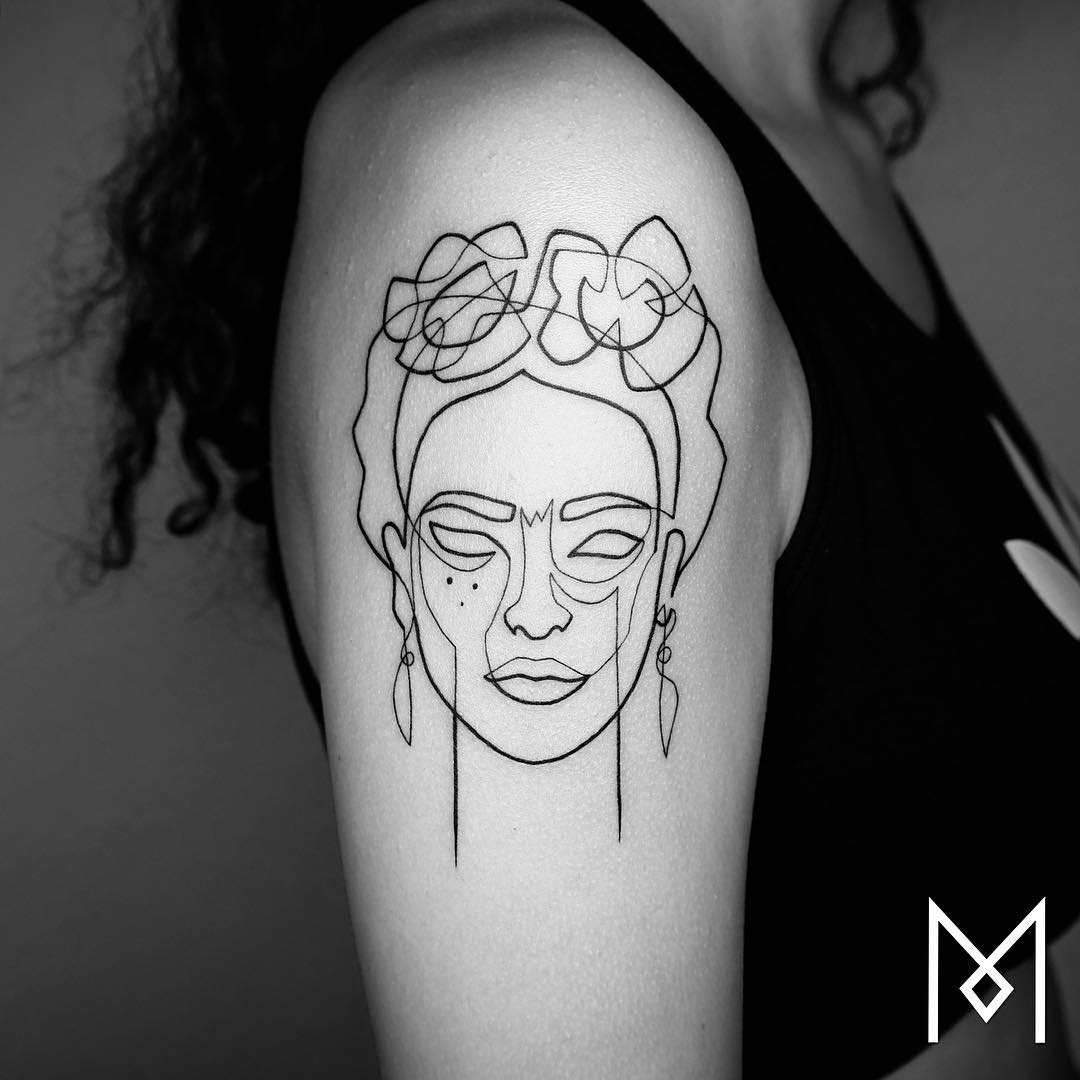 Exquisite Single Line Tattoos By Mo Ganji