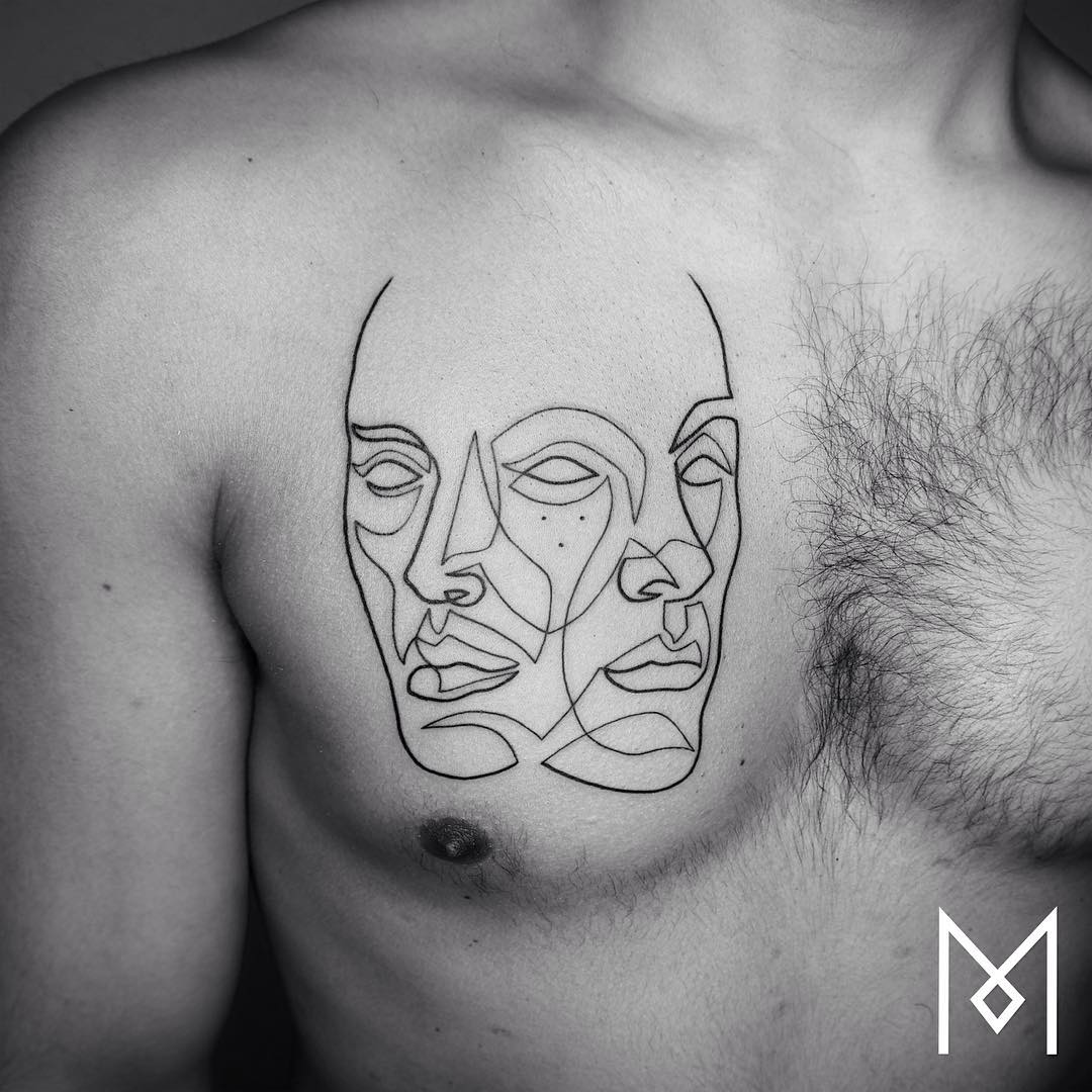 Exquisite single line tattoos by mo ganji page 2 of 2 for Small line tattoos