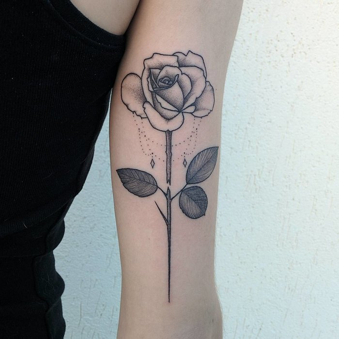Rose Tattoo by Michele Volpi