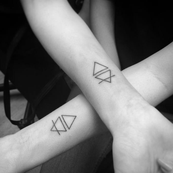 Matching Geometric Tattoos by Matt Holland