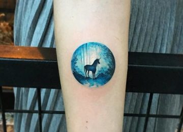 Colorful Tiny Circle Tattoos By Eva Krbdk