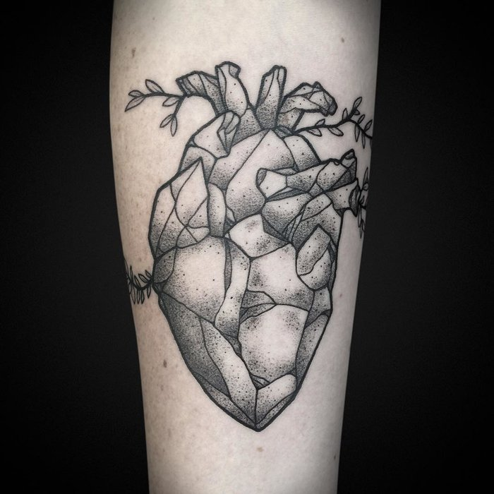 Anatomical Heart Tattoo by ashandwood