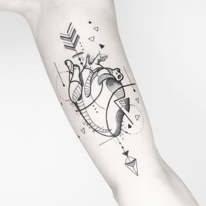 39 inspiring anatomical heart tattoos tattoobloq. Black Bedroom Furniture Sets. Home Design Ideas