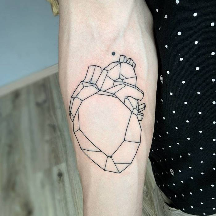 Geometric Heart by Michele Volpi