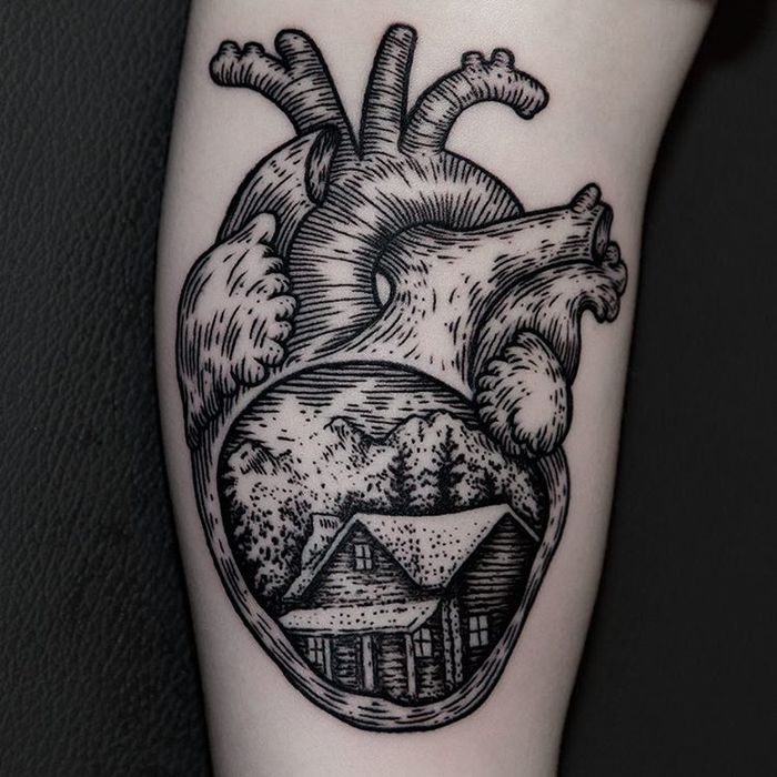 Anatomical Heart Tattoo by ilja hummel