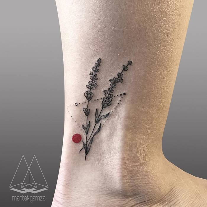 Lavender Tattoo by Mentat Gamze