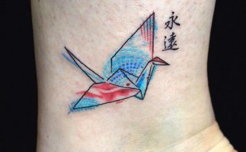 26 Gorgeous Paper Crane Tattoos and Meanings
