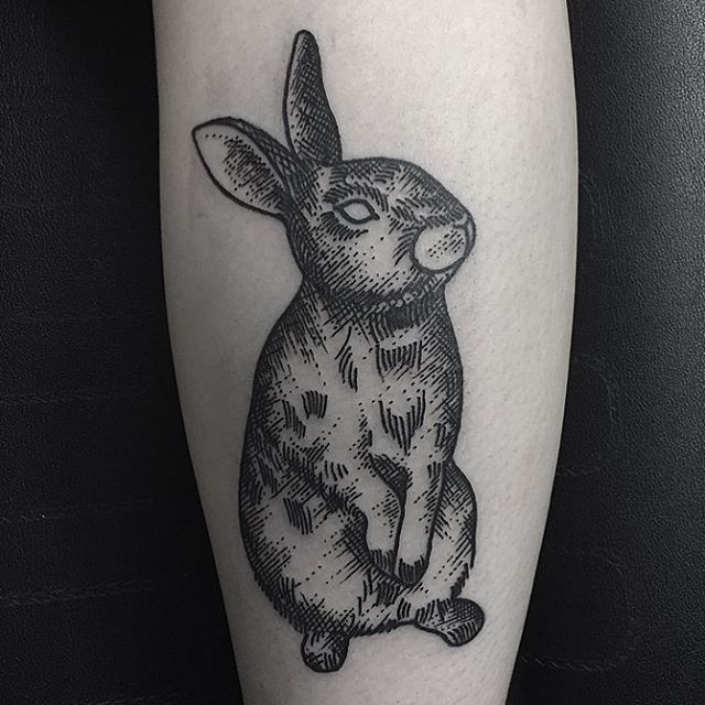 Black Traditional Rabbit by Josie Hall