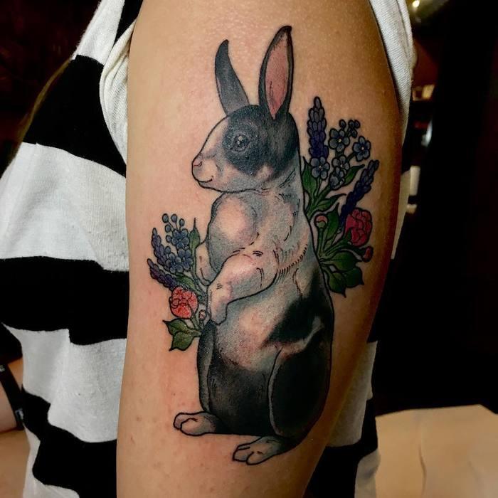Rabbit Tattoo by Kit Hall
