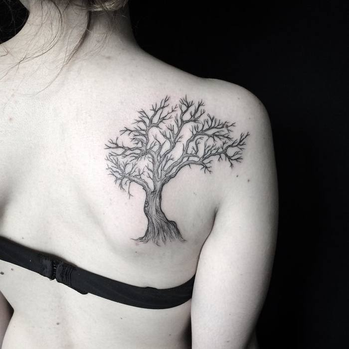 Beautiful Tree Tattoo by Mary Tereshchenko
