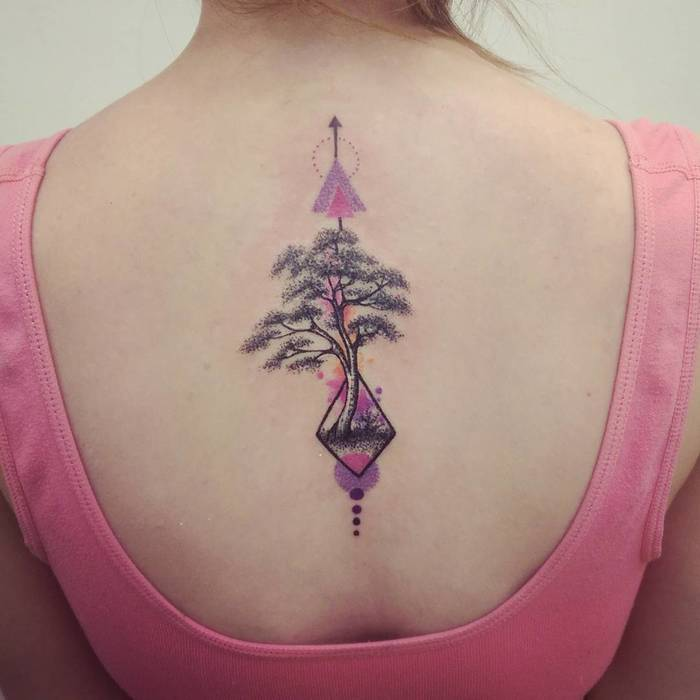 Colored Upper Back Tree by Magklin RIP
