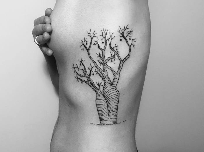 Australian Baobab Tree Tattoo by Aleksander Lew