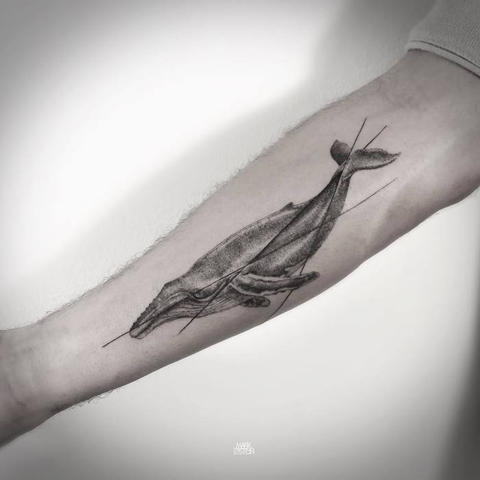 Humpback Whale Tattoo by Mark Ostein