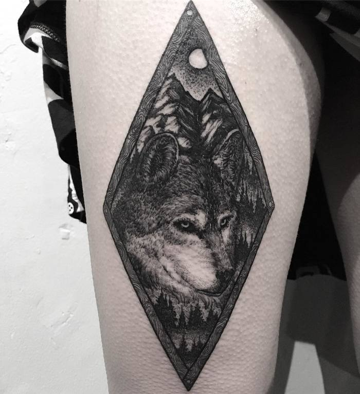 Wolf Tattoo by Merry Morgan
