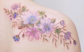 18 Delicate Floral Tattoo Designs by Tattooist Silo