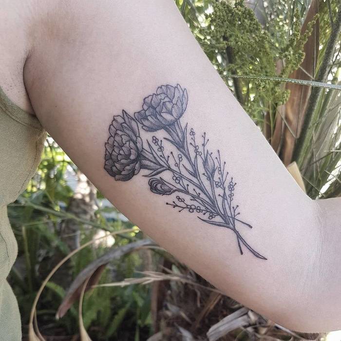 Carnation Bouquet by sonjabowtattoos