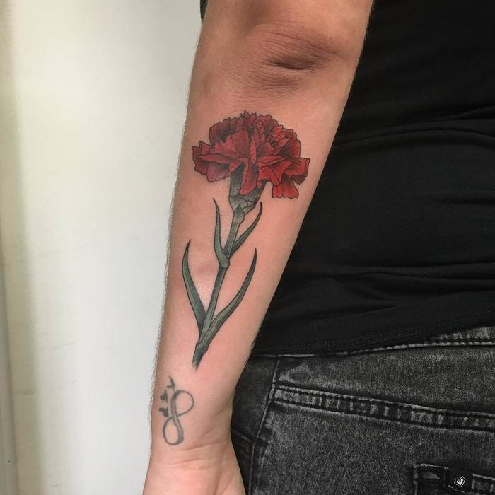 Red Carnation Tattoo by pooka