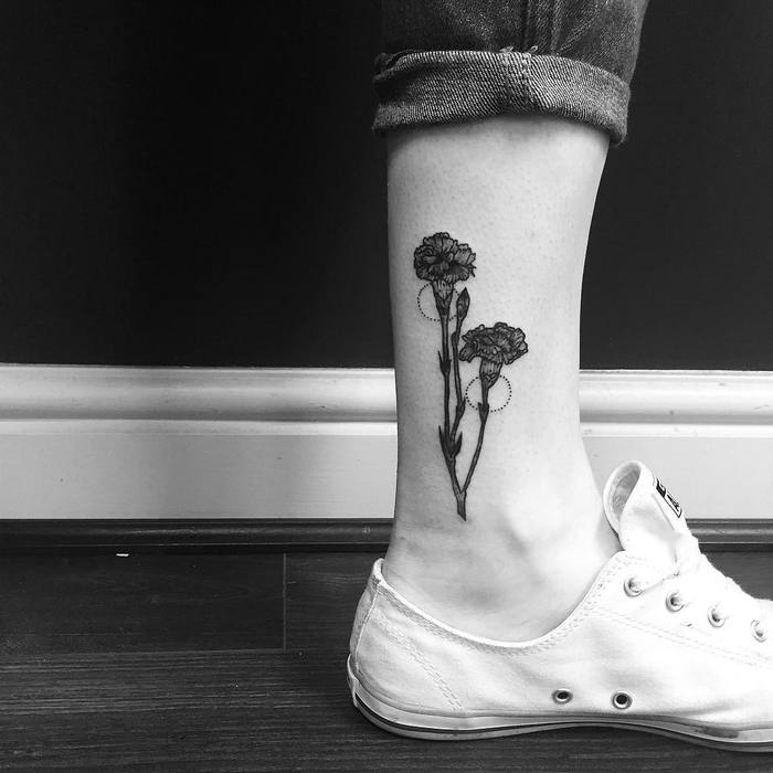 Black Ink Carnations by emily carroll