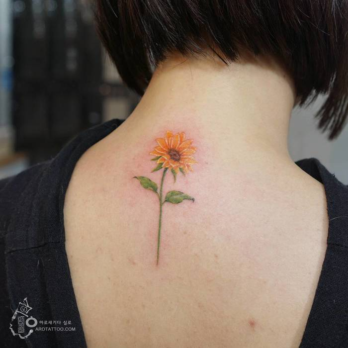 Sunflower Tattoo by Tattooist Silo