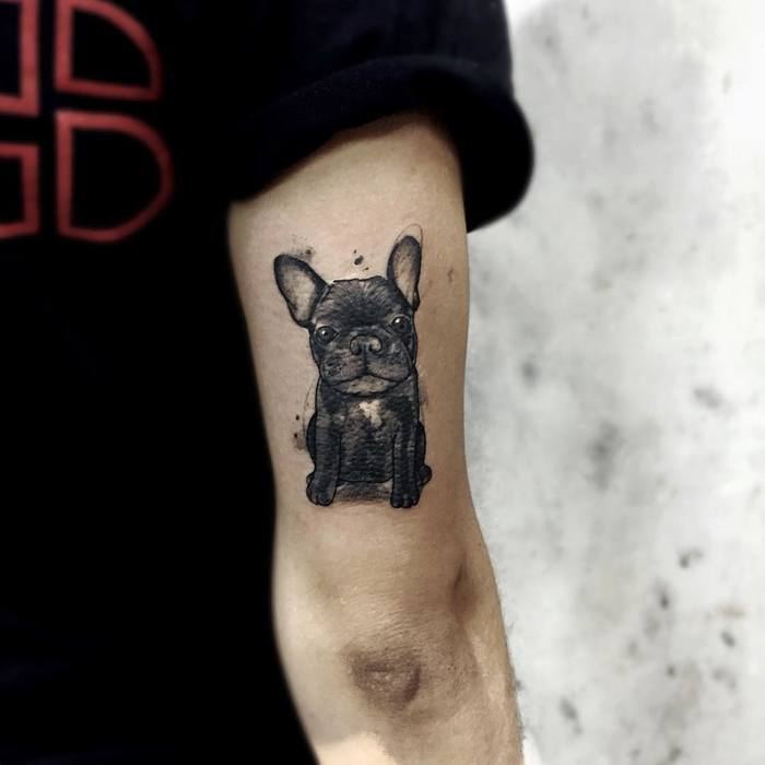 c07cfc682 48 Lovely Dog Tattoo Designs to Celebrate Man's Best Friend - Page 2 ...