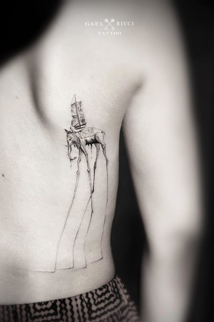 Dotwork tattoos by Gael Ricci