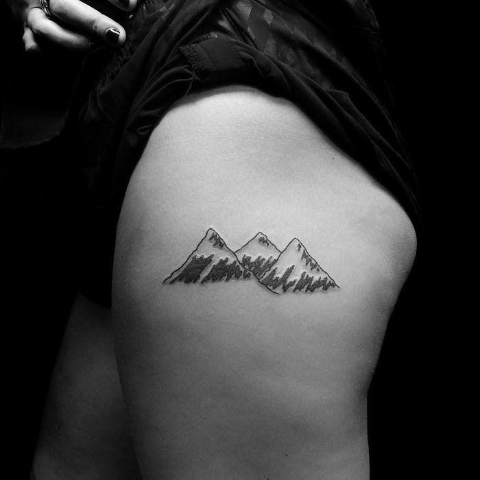 Mountain Tattoo by kevinking.nyc