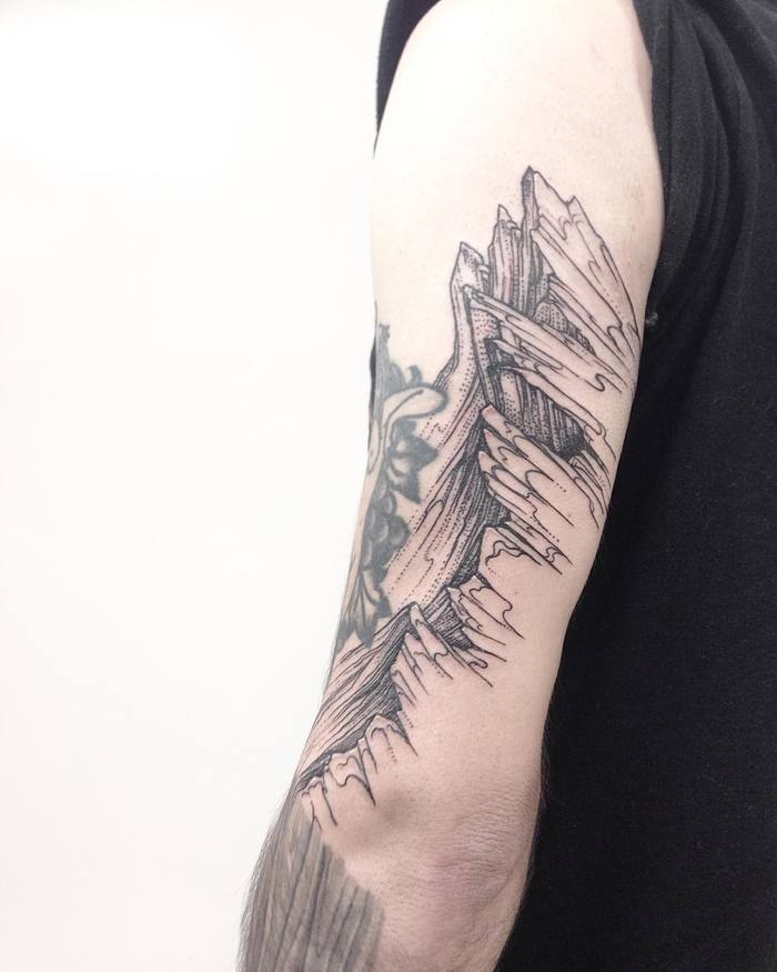 Mountain Range Tattoo by mgptattoos