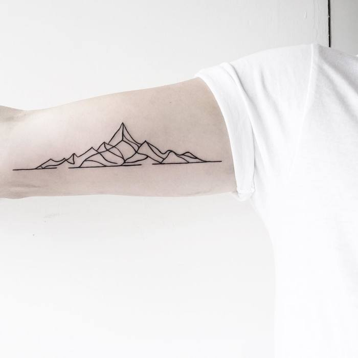 Mountain Outline Tattoo by malwina8