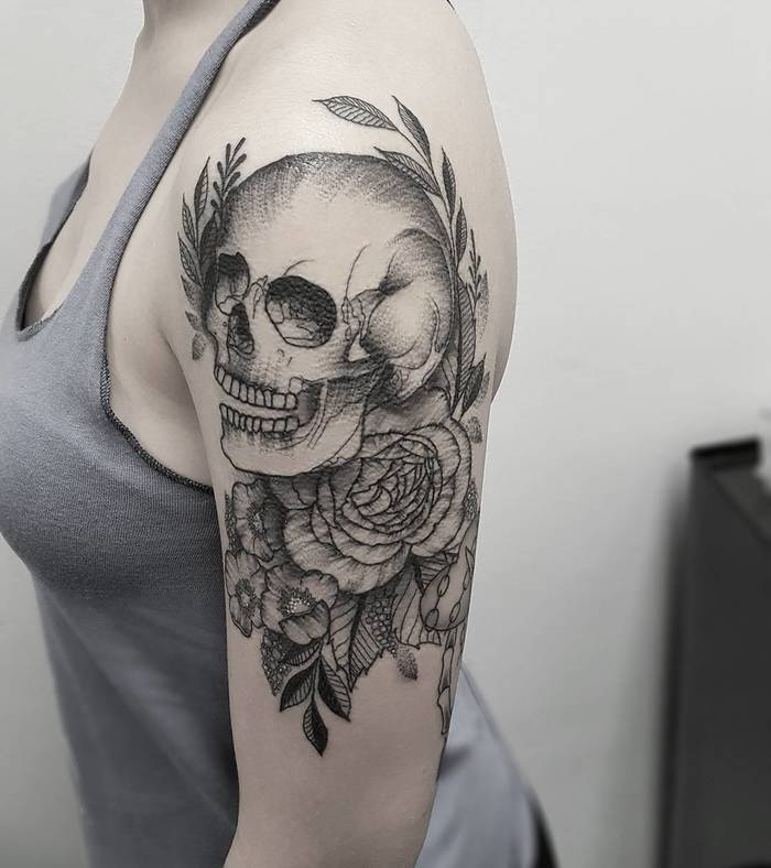 Skull Tattoo by ohtanyagee