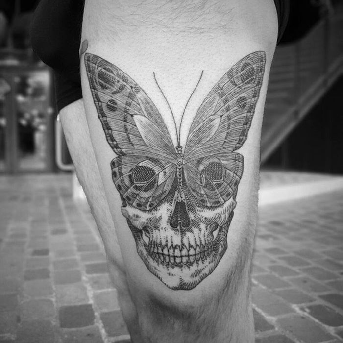 Surreal Skull Tattoo by otto d'ambra