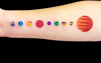 32 Fascinating Solar System Tattoo Designs