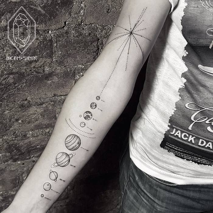 Solar System Tattoo by Bicem Sinik