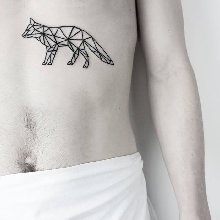 Geometric Fox Tattoo by malwina8